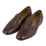 Fotografía con fondo blanco Zapatos caballero marrones